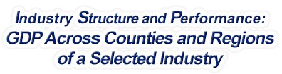 Nevada - Gross Domestic Product Across Counties and Regions of a Selected Industry