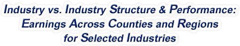 Nevada - Industry vs. Industry Structure & Performance: Employment Across Counties and Regions for Selected Industries
